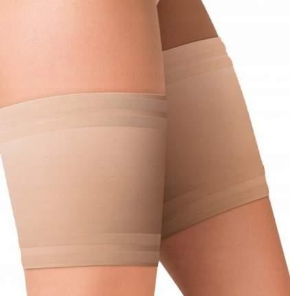 Сатиновые подвязки на ноги для защиты от натирания бежевый 7 (3XL)