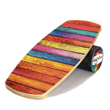 Балансборд Pro Balance Color Wood оранжевый