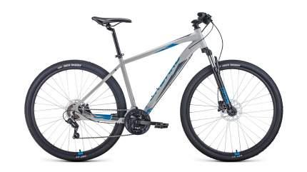 "Велосипед Forward Apache 29 3.2 disc 2021 21"" серый/синий"