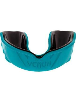 Капа боксерская с футляром Venum Challenger Cyan/Black