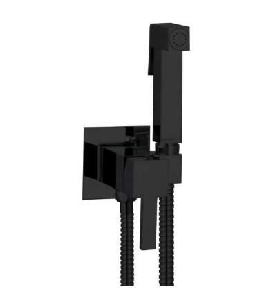 Гигиенический душ со смесителем, комплект для биде Ganzer GZ 72101-C set, цвет чёрный