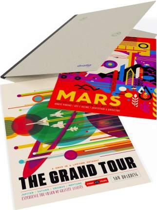 """Плакаты на картоне матовые клеящиеся """"Космический тур на планету Марс"""" в папке"""