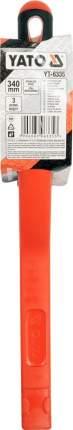 Щетка стальная c пластм. ручкой, 3 ряда, 340 мм, нерж. сталь YATO yt6335