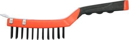 Щетка стальная c пластм. ручкой, 4 ряда, 290 мм, сталь YATO yt6333