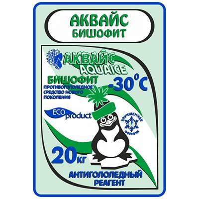"""Реагент антигололедный до -30 С°   25кг БИШОФИТ """"АКВАЙС"""" 1/1"""