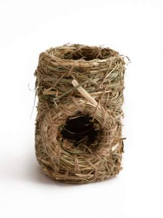 Домик для всех грызунов AMARO HOME ТОННЕЛЬ, стебли и травы 11х11х15см