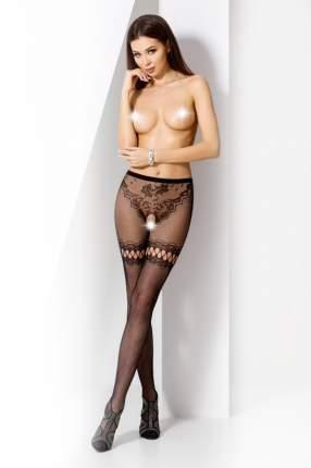 Колготки Passion Erotic Line с доступом, черные - OS