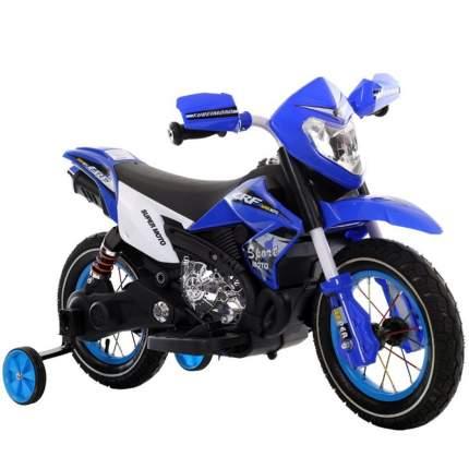 Мотоцикл Shantou Gepai 6186-BLUE сине-белый с подсветкой