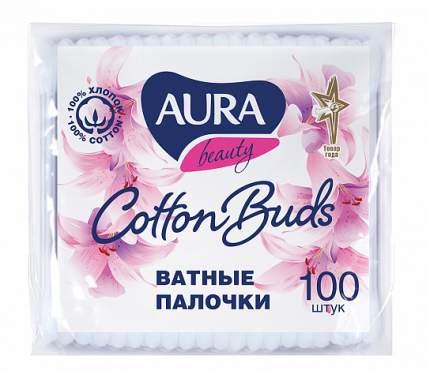 Ватные палочки AURA п/э пакет 100 шт
