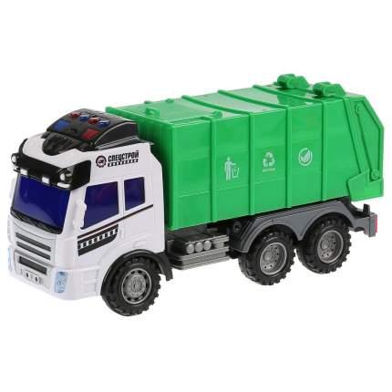 Радиоуправляемый мусоровоз Технодрайв Спецстрой со световыми и звуковыми эффектами