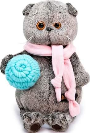 Мягкая игрушка BUDI BASA Басик в шарфике и с клубком, 25 см