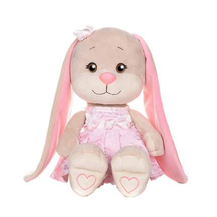 Мягкая игрушка Зайка Jack&Lin в кружевном розовом платье, 25 см Jack and Lin