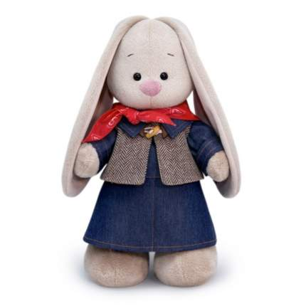 Мягкая игрушка BUDI BASA Зайка Ми в джинсовом платье, 32 см