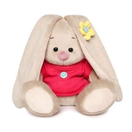 Мягкая игрушка BUDI BASA Зайка Ми в малиновой футболке с пуговкой, 15 см