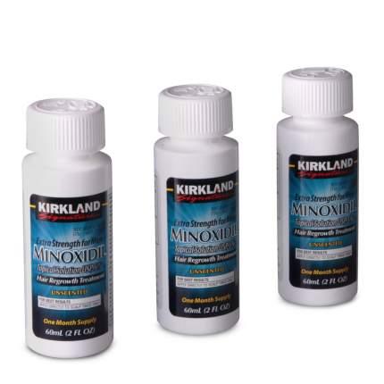 Оригинальный Миноксидил киркланд 5% Kirkland Minoxidil Signature 3 флакона с пипеткой