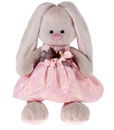 Мягкая игрушка BUDI BASA Зайка в розовом платье с цветком, 34 см