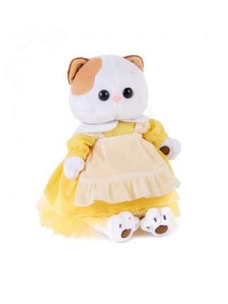 Мягкая игрушка BUDI BASA Кошечка Ли-Ли в желтом платье с передником, 24 см