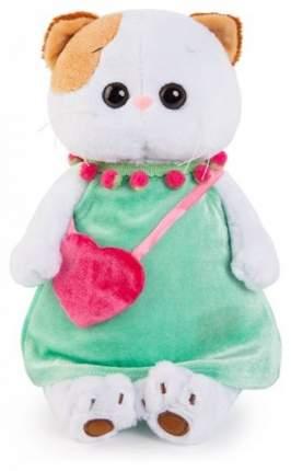 Мягкая игрушка BUDI BASA Кошечка Ли-Ли в мятном платье с розовой сумочкой, 24 см