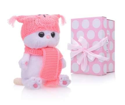 Мягкая игрушка BUDI BASA Ли-Ли Baby в шапке-сова и шарфе, 20 см