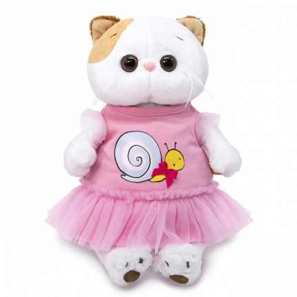 Мягкая игрушка BUDI BASA Ли-Ли в платье с принтом Улитка, 24 см