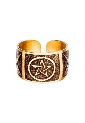 Кольцо Кудесы 0013 Звезда медь золотистое размер 19