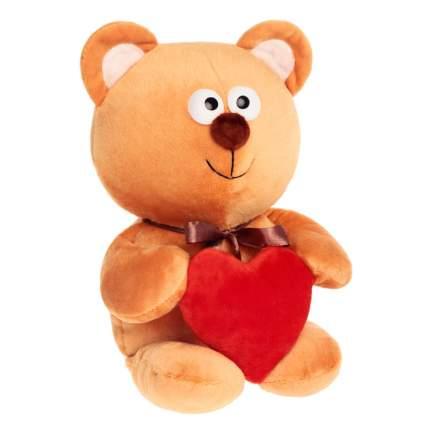 Мягкая игрушка Princess Love Мишутка с сердцем бежевый, 30 см