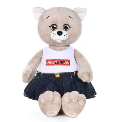 Мягкая игрушка Maxitoys Мышель джинсовой юбке и футболке, 25 см