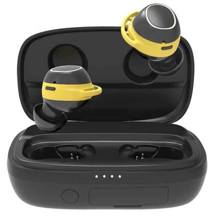 Беспроводные наушники HIPER Cross V2 HTW-HDX9 Black/Yellow