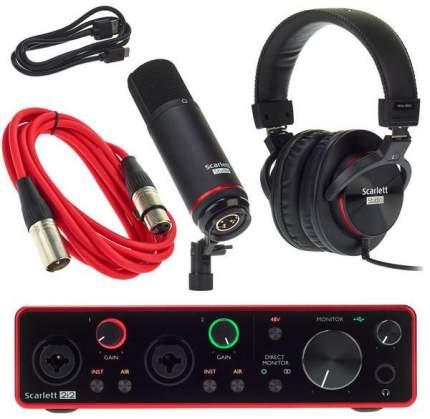 Аудиоинтерфейс Focusrite Scarlett 2i2 Studio 3rd Gen Red