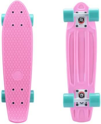 Круизер пластиковый PLANK MINIBOARD 22 (Розовый)