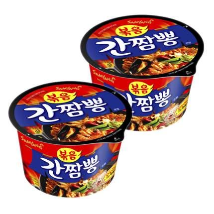 Лапша б/п Gancampong овощи и морепродукты Samyang чашка 105 г х 2 шт