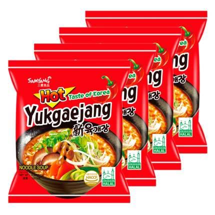 Лапша б/п Юкедзянг острая со вкусом говядины Samyang пачка 120 г х 4 шт