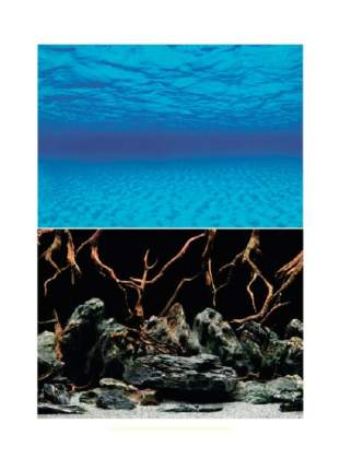 Фон для аквариума Barbus Background 013 Морская лагуна, плотный, двухсторонний, 30 х 62 см
