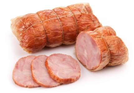 Рулет из мяса кролика Бахрушинъ варено-копченый