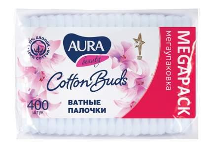 Ватные палочки AURA Beauty п/э пакет 400 шт. автозапайка