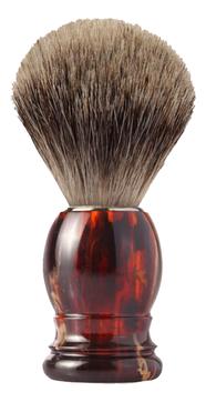 Помазок для бритья Mondial, пластик, ворс барсука, рукоять - цвет черепаха