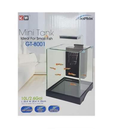 Аквариум для рыб KW ZONE Dophin GT-8001, с LED светильником и системой фильтрации, 12 л