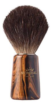 Помазок для бритья Mondial, дерево, ворс барсука, рукоять - цвет древесина