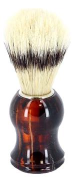 Помазок для бритья Mondial, пластик, свиной ворс, темно-коричневый цвет