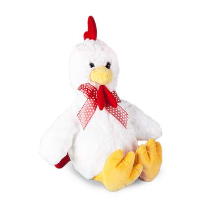 Мягкая игрушка Bebelot Петушок с бантиком белый, 33 см