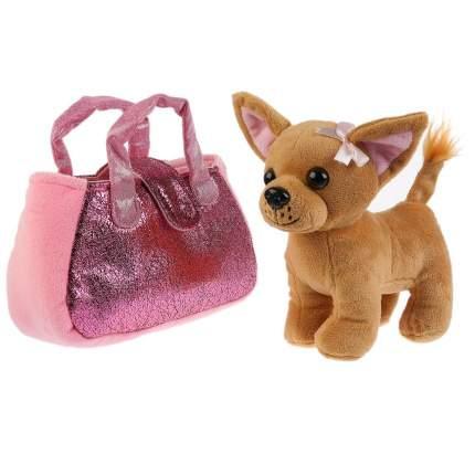 Мягкая игрушка My Friends Собака в розовой сумочке, 15 см