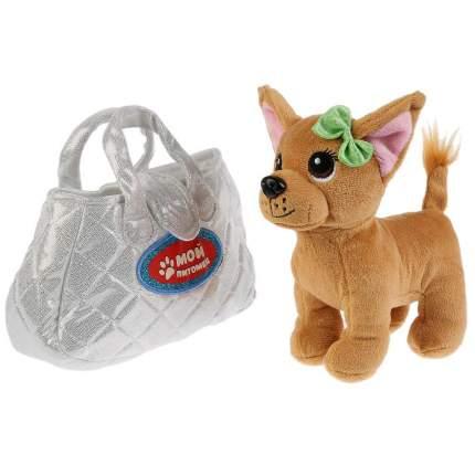 Мягкая игрушка My Friends Собака в серебрянной сумочке, 15 см