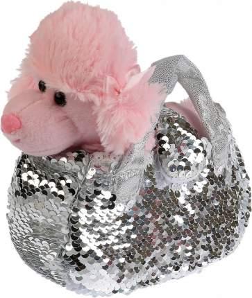 Мягкая игрушка My Friends Собака в сумочке из серебрянны пайеток, 15 см