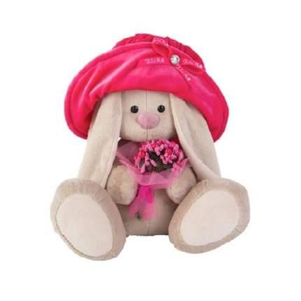 Мягкая игрушка BUDI BASA Зайка Ми в бархатной шляпе с букетиком