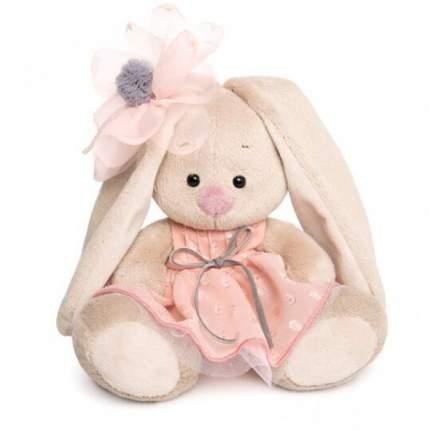Мягкая игрушка BUDI BASA Зайка Ми в персиковом платье, 15 см