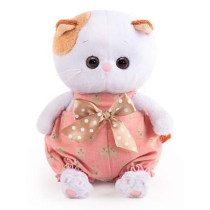 Мягкая игрушка BUDI BASA Кошечка Ли-Ли Baby в песочнике с бантом, 20 см
