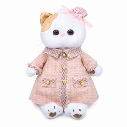 Мягкая игрушка BUDI BASA Кошечка Ли-Ли в розовом костюме в клетку, 24 см