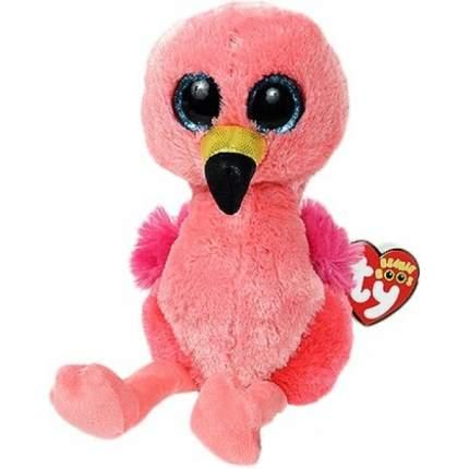 Мягкая игрушка Ty Inc Гильда фламинго розовый, 15 см