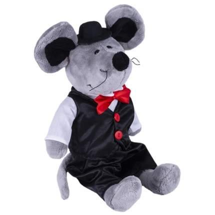 Мягкая игрушка SOFTOY Мышь в костюме, 36 см