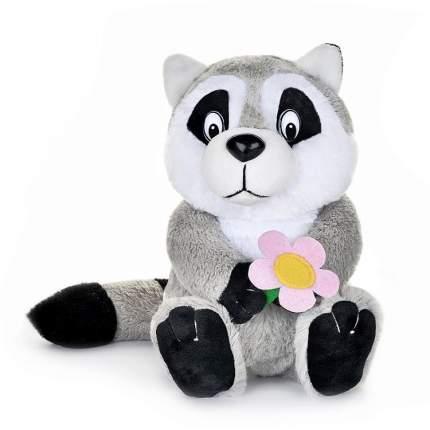 Мягкая музыкальная игрушка Maxiplay Енотик с цветочком, 21 см